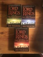 THE LORD OF THE RINGS books, trilogy by J. R. R. TOLKIEN, HarperCollins 1999