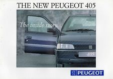 Peugeot 405 1992 Full Colour 20pg Sales Brochure NOS (new old stock)