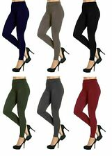 Ladies Thick Winter Thermal Leggings Fleece Lined Warm High Waist Size 06 - 20