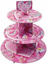 PRINCESS CUPCAKE STAND 3 TIER CAKE DISPLAY BIRTHDAY AFTERNOON TEA PARTY NEW