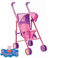 Peppa Pig Kids Pram Buggy Stroller For Baby Dolls 55cm Tall Folding Toy