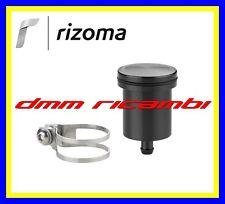 Serbatoio Olio Freno/Frizione Moto RIZOMA CT015 in alluminio attacco dritto Nero