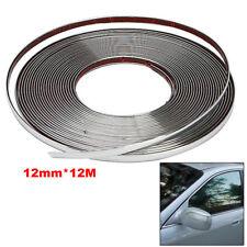 12MM*12M Car Door Window Bumper Decoration Moulding Trim Silver Chrome Strip New