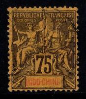 Indochine 1892 Yv. 14 Oblitéré 100% 75 c. Sage