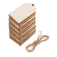 50 stück Leere Natürliche Holz Geschenkanhänger Hängende Label Hochzeit Dekor