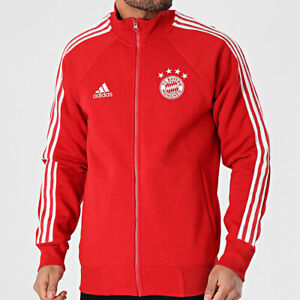 adidas Bayern Munich 2020 - 2021 Icons Track Jacket Red White Men's Size XL NEW