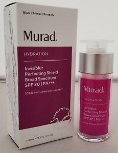 Murad Hydration Invisiblur Perfecting Shield SPF 30, EXP 01/21 - New in Box 1 oz