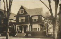 Pretty Home - Medford MA Cancel c1910 Real Photo Postcard