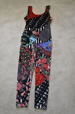 Moschino Calze Funky Catsuit Leotard Multicolour Stretch Suit Womens Size 4