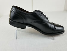 Allen Edmonds Mens Sanford Derby Leather Black Cap Toe Wingtips Size 9D