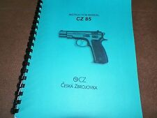 Cz-85, Manual, 15 Pages