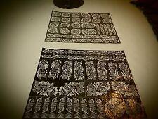 2 hearts Sheets of self Adhesive Decal Stencils Henna temporary tattoo free ship