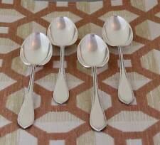 Vintage Sterling Silver Set of 4 Dessert Spoons, Fine Bead