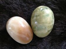 Vintage marble eggs x 2. Italian marble. Excellent condition