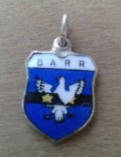 Barr Coat of Arms / Family Crest Silver Plated Enamel Charm