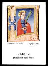 santino-holy card*S. LUCIA V.M.-VENEZIA