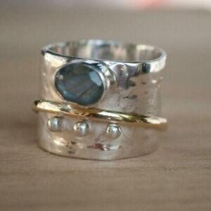 Labradorite Spinner Ring 925 Sterling Silver Ring Meditation Ring Boho j7180