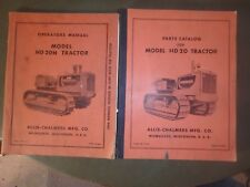ALLIS-CHALMERS model HD 20 and HD20H operators and parts manuals- 1950's