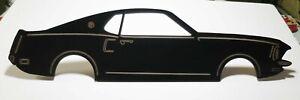 "Laser Cut 1969 Ford Mustang Mach 1 Fastback Detailed  Matte Black 23"" x 5-3/4"""