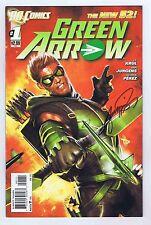 Green Arrow #1 VF/NM New 52 Signed w/COA George Perez 2011 DC Comics 1st Print