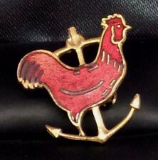 Rhode Island Red Rooster Anchor Pin