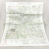 1967 Vintage Militare Map Cheltenham Evesham Moreton IN Marzo Chipping Camden