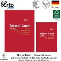 Arto Bristol Paper Pad 300gsm Illustration Art Inks Paints Markers Pens A4 A3
