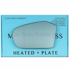 For Mercedes B-Class 05-08 Left side Blue Aspheric Electric mirror glass +plate