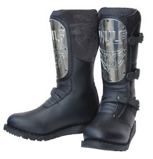 Wulfsport Black Knight Motorbike Boots Motorcycle Road Trials Classic Dualsport