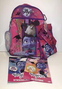 Vampirina Backpack & Lunch Box 5 Piece Set W/ Water Bottle ~ Plus Bonus