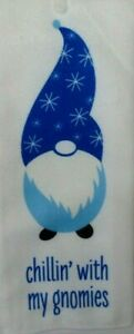 Christmas House Gnome Kitchen Towel ~ Chillin' with My Gnomies