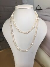 Large White Ivory Rectangular Un-drilled Baroque Cultured Freshwater Pearls A