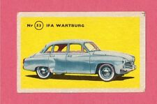IFA Wartburg Vintage 1950s Car Collector Card from Sweden