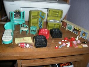 vintage Marx and others doll house furniture