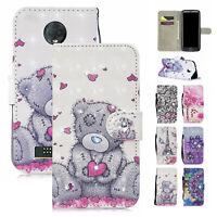 For Motorola Moto G7 G6 Z3 E5 Plus Play Magnetic Flip Wallet Leather Case Cover