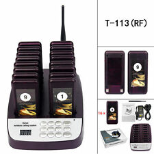 TIVDIO Restaurant Wireless Calling Paging Queuing System 16x Pagers Receivers US