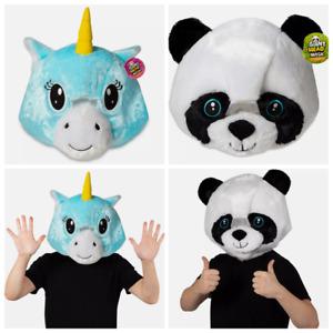 BRAND NEW WITH TAGS PLUSH UNICORN PANDA HEAD MASK MASCOT FANCY DRESS