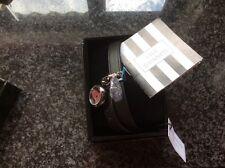 Lulu Guiness black wrap charm watch