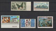 1960/68 MADAGASCAR  5 timbres aériens / T1511