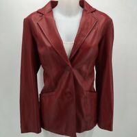Preston & York Red Leather Jacket Medium