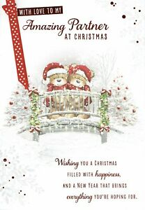 To My Amazing PARTNER - Quality Large CHRISTMAS CARD Bears Design