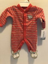 NWT CARTER'S One Piece Bulldog PREEMIE up to 6 POUNDS FOOTED SLEEPER