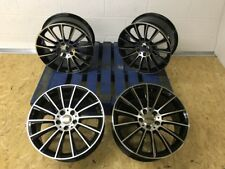 "18"" Twist Alloy wheels Black polished to fit Mercedes A CLA B C E CLASS c63 styl"