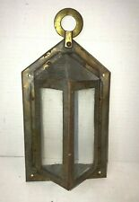 Vintage Brass Gothic Tudor Wall Sconce Light