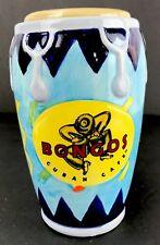 Tiki Bar Mug Ceramic Bongo Drum Cuban Cafe Island Drink Tumbler Holder BB Bongos