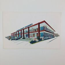 Beach Front Gardens Motel Atlantic City Nj Vtg Postcard 50s Kitsch Mid Century