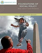 Foundations of Social Policy: Social Justice in Human Perspective (Brooks/Cole
