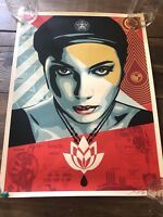 Shepard Fairey Obey Giant Oil Lotus Woman Art Print Poster S/N Ed Of 450 In Hand