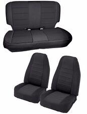 Smittybilt Complete Custom Fit Black Neoprene Seat Covers 97-02 Jeep Wrangler TJ