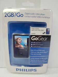 New Philips GoGear SA3020 2GB MP3 Player - Blue